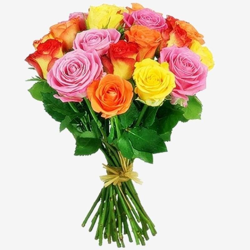 Букет из разно цветных роз